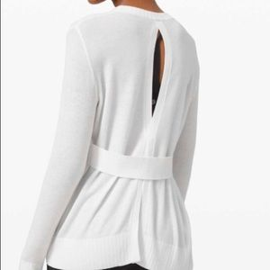 Lululemon Sincerely Yours Sweater White NWT size 4
